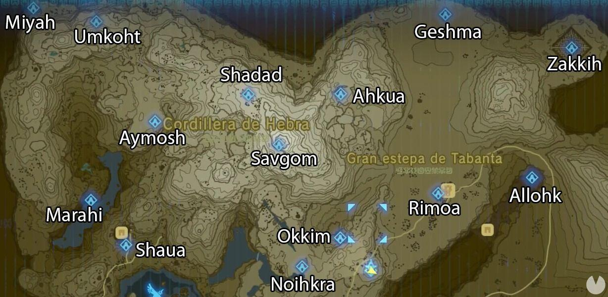 Santuarios de Hebra Zelda Breath of the Wild