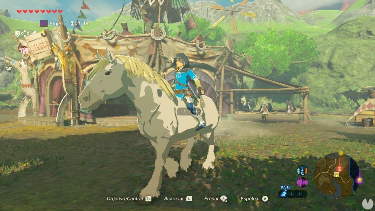 Caballo blanco en Zelda: Breath of the Wild