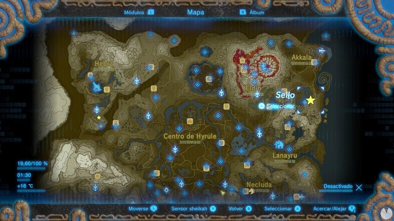 Fuente de la Gran Hada de Muarenn en Zelda: Breath of the Wild