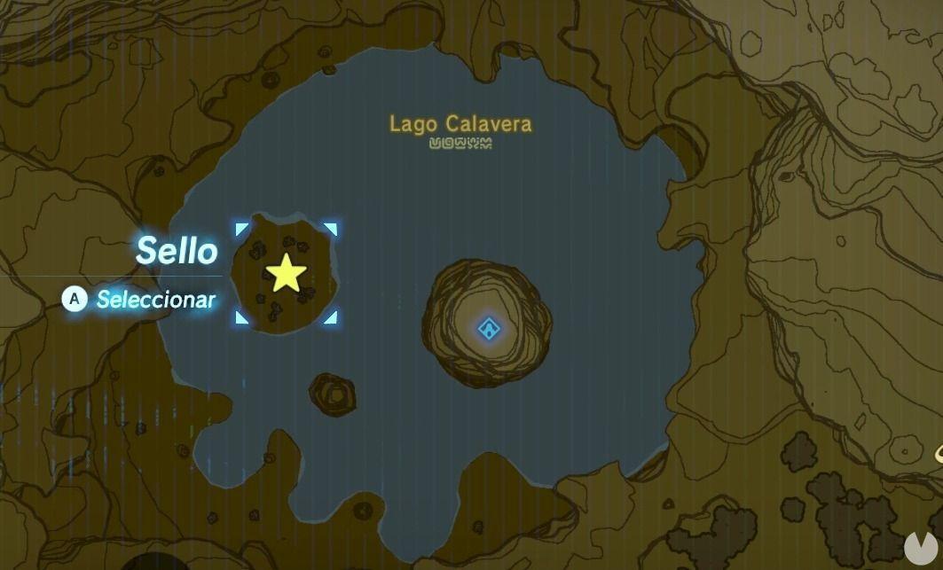 Isla Lago Calavera Zelda Breath of the Wild