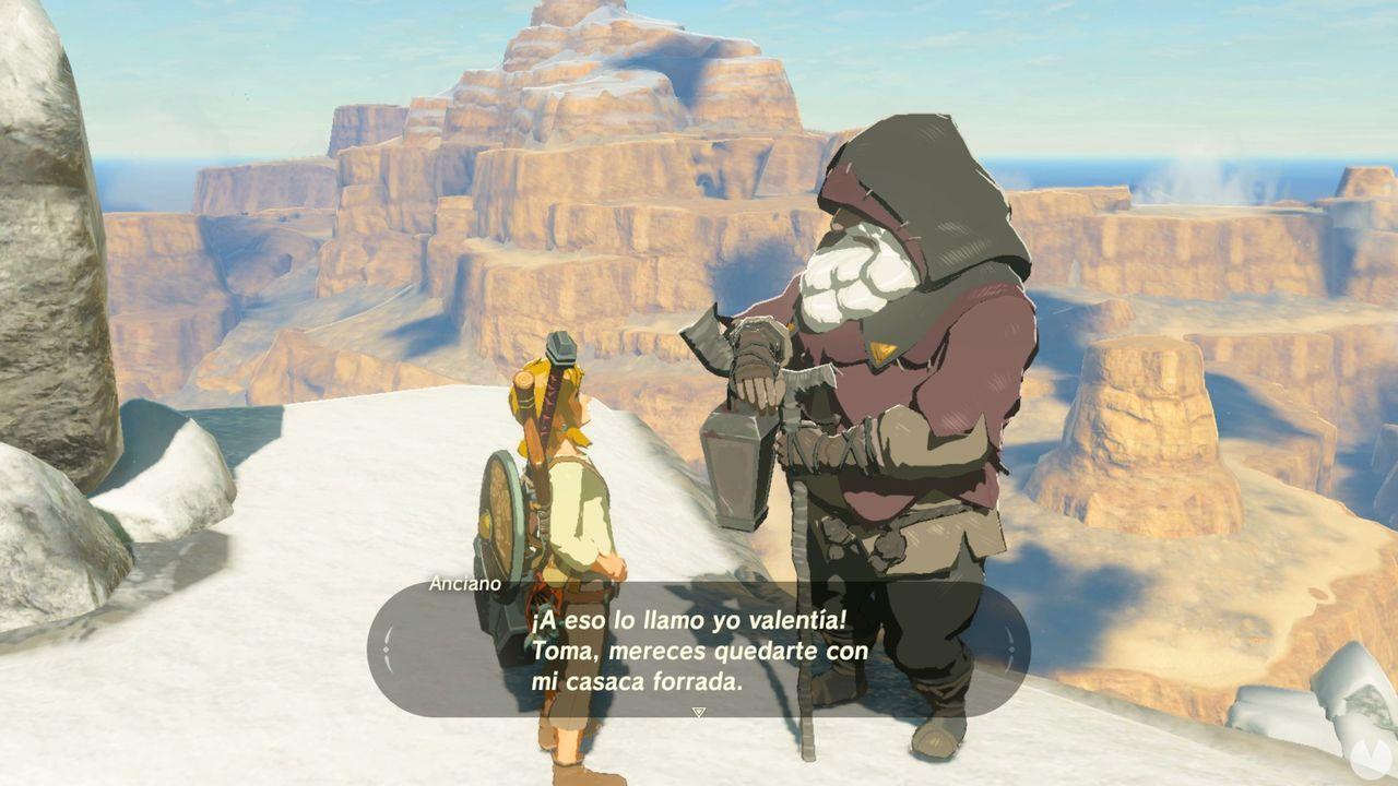 Casaca forrada Zelda Breath of the Wild cabaña del anciano 2