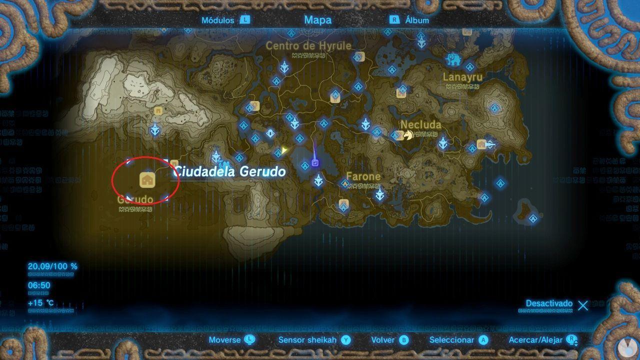 Ciudadela Gerudo Zelda Breath of the Wild
