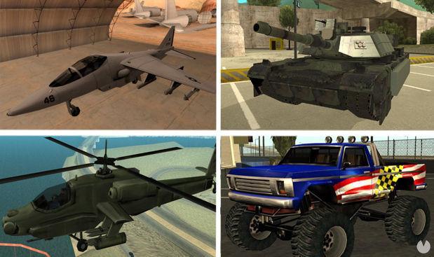 Vehículos GTA San Andreas PC