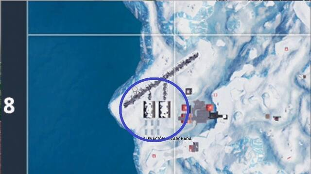 Fortnite Battle Royale - Hangares de Elevación Escarchada