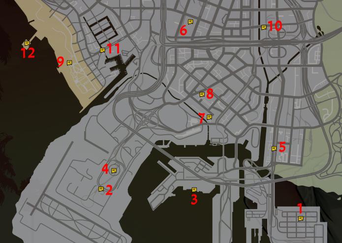 Mapa de fragmentos de carta 1