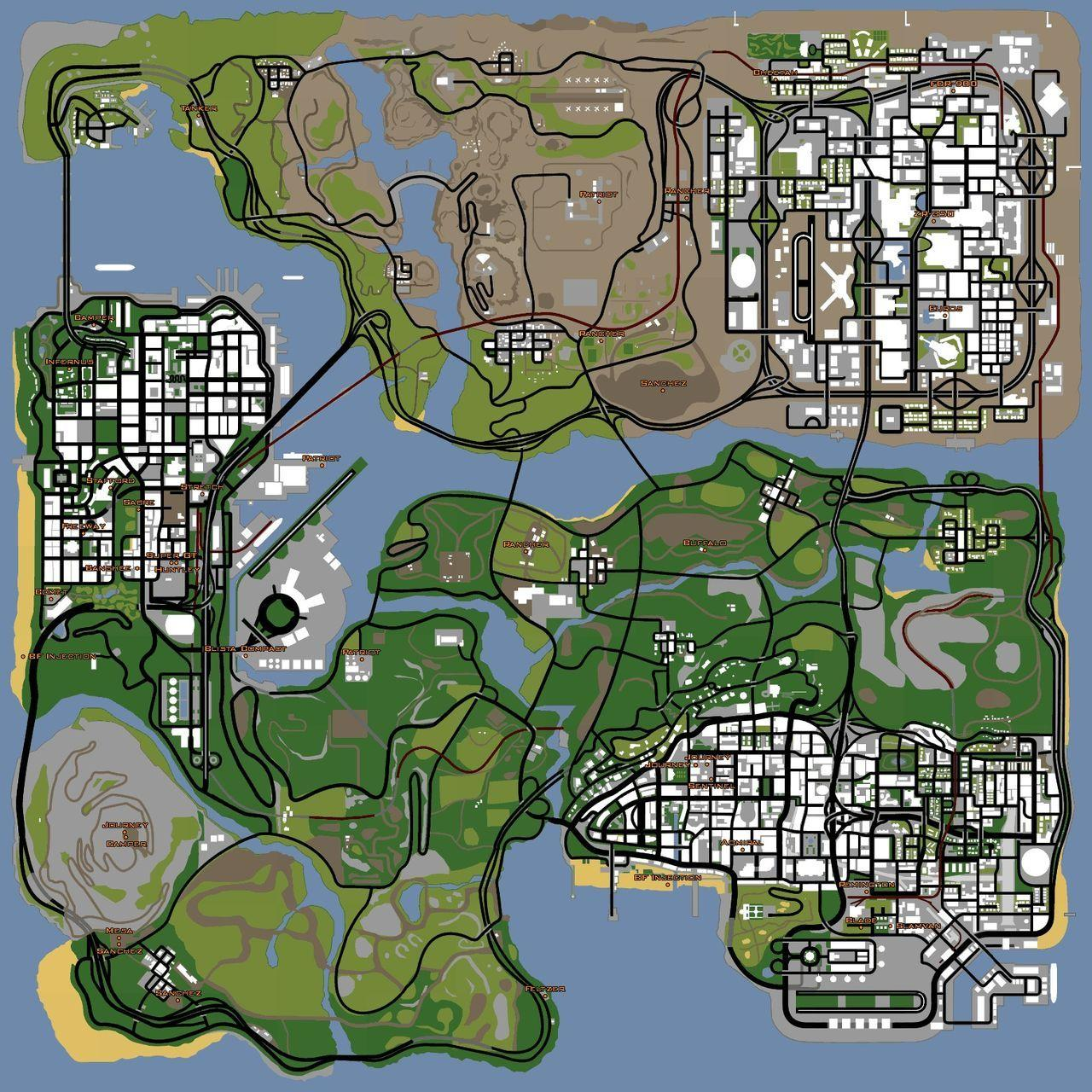 mapa fotos GTA San Andreas