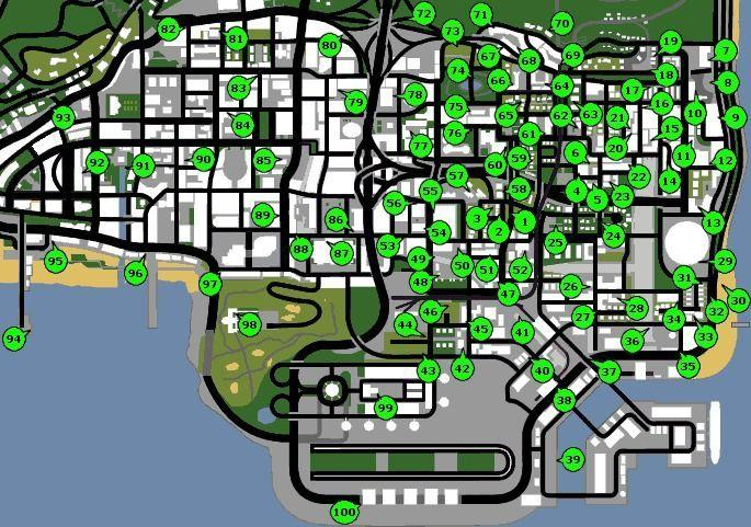 mapa graffitis GTA San Andreas