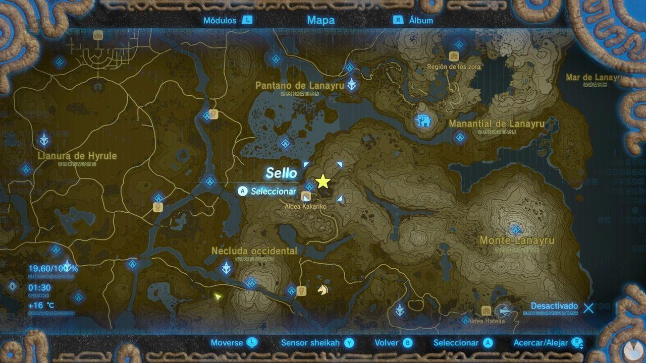 Fuente de la Gran Hada de Seddha en Zelda: Breath of the Wild