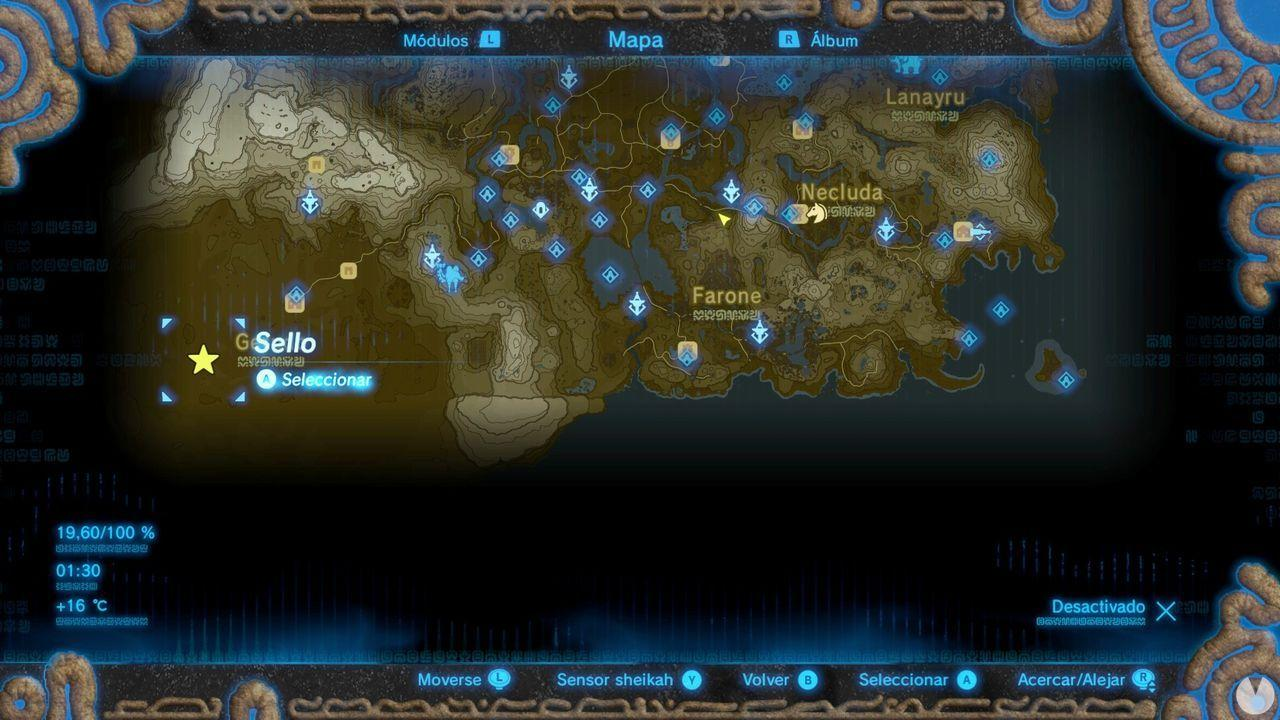 Fuente de la Gran Hada de Satten en Zelda: Breath of the Wild