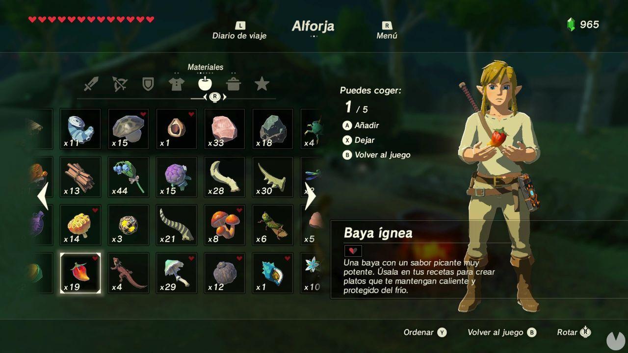 Casaca forrada Zelda Breath of the Wild baya ígnea
