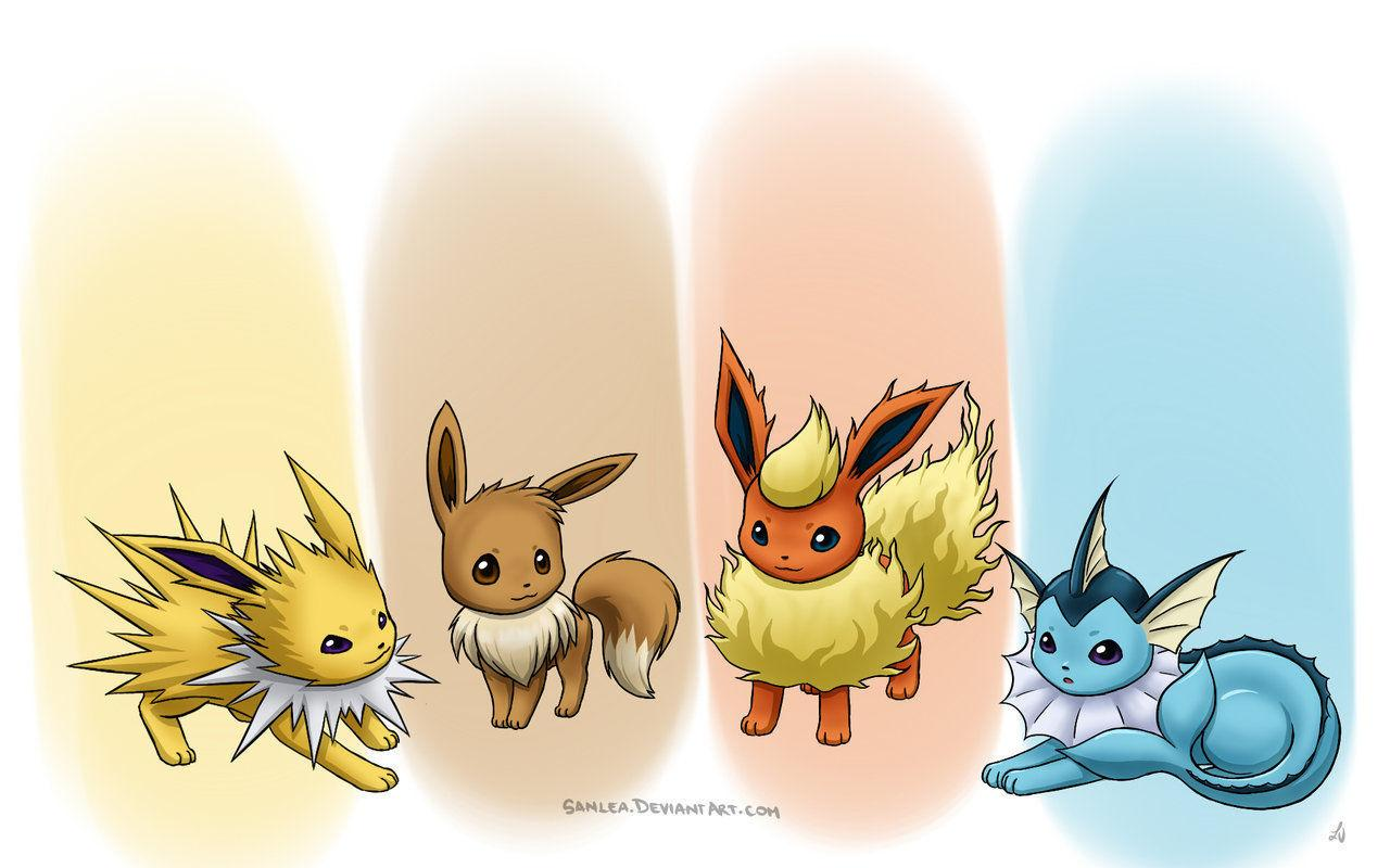 Eevee, Vaporeon, Jolteon y Flareon en Pokémon GO